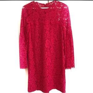 Devlin New Pink Lace Boho Dress